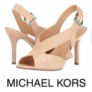 Michael Kors || NEW Becky Nude Strap Heels